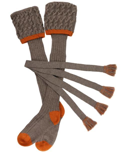 Men's Schoffel Lattice Socks - Mink