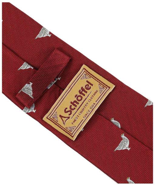 Men's Schoffel Waltham Silk Tie - Red Ptarmigan