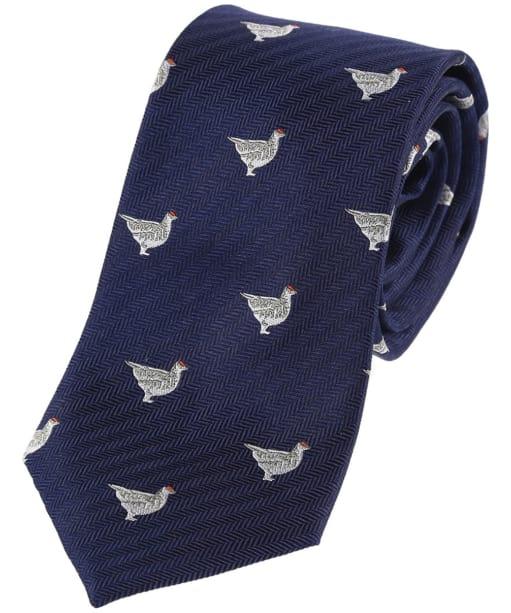 Men's Schoffel Waltham Silk Tie - Navy Ptarmigan