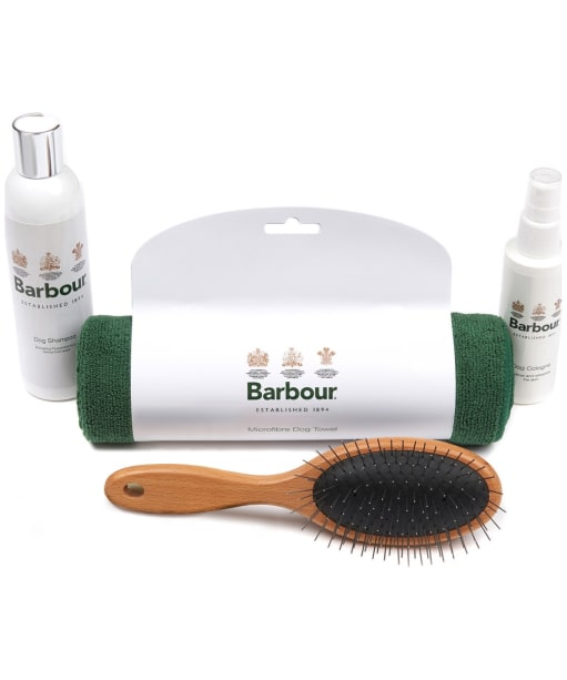 Barbour Dog Grooming Gift Set - White