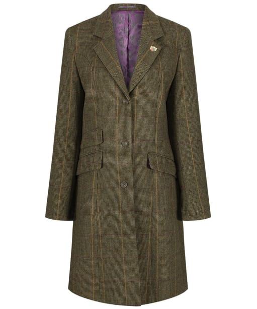 Women's Alan Paine Combrook Tweed Mid Length Coat - Heather