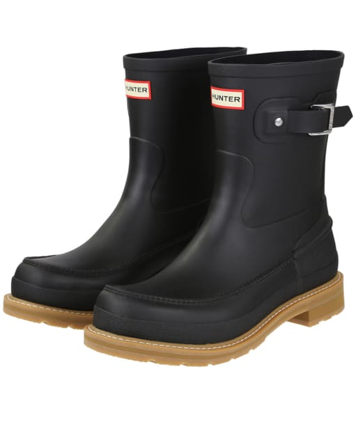 Men's Hunter Original Lightweight Mock-Toe Short Wellingtons - Black