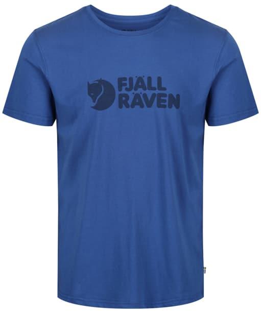 Mens Fjallraven Logo T-Shirt - Deep Blue