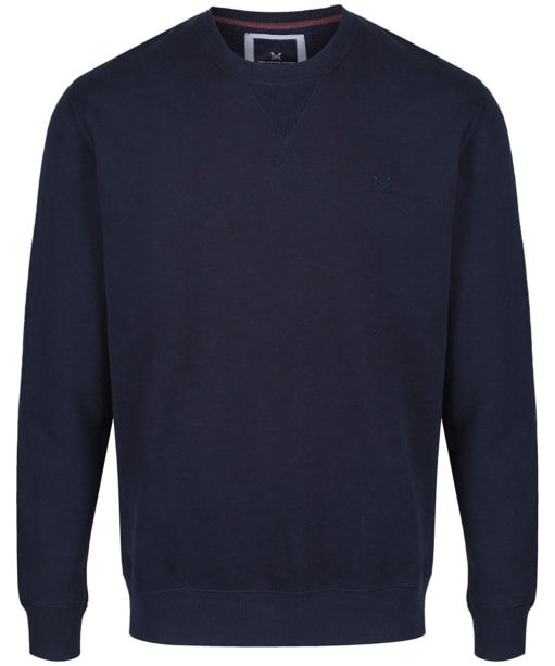Men's Crew Clothing Logo Sweatshirt - Dark Navy