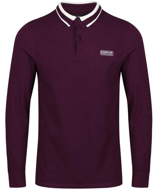 Men's Barbour International Spark Polo Shirt - Purple