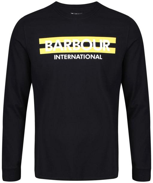 Men's Barbour International Starter Long Sleeved Tee - Black