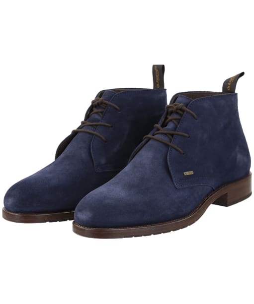 Men's Dubarry Waterville Leather Boots - French Navy