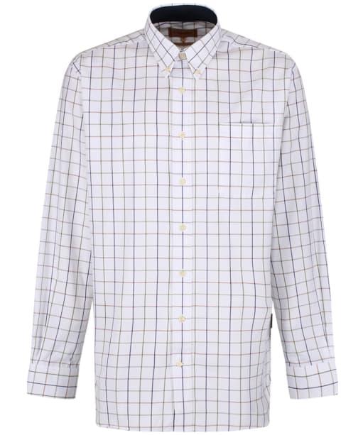 Men's Schoffel Brancaster Shirt - Navy / Brown / Olive