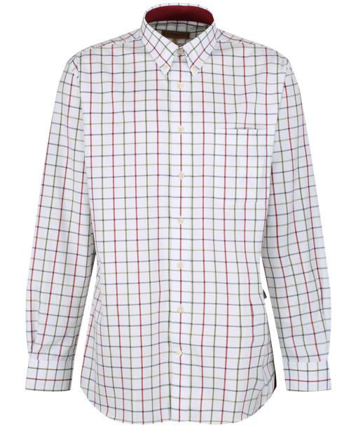Men's Schoffel Brancaster Shirt - Red / Navy / Olive