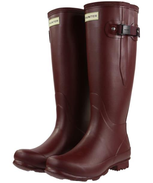 Women's Hunter Norris Field Side Adjustable Wellington Boots - Dulse