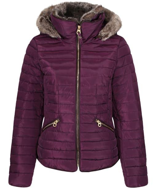 Women's Joules Gosling Short Padded Jacket - Burgundy