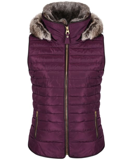 Women's Joules Melbury Hooded Gilet - Burgundy