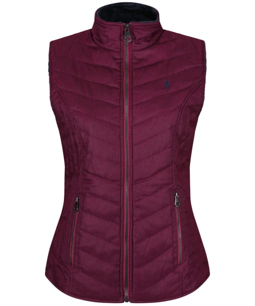 Women's Jack Murphy Everly Quilted Gilet - Plum Potion Herringbone
