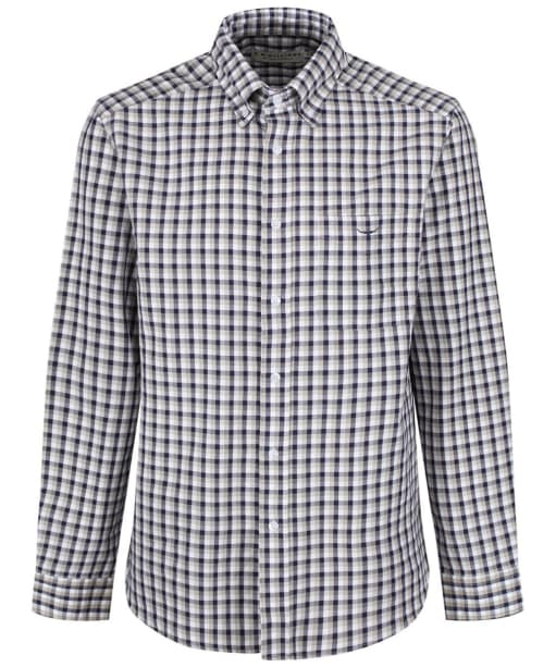 Men's R.M. Williams Collins Button Down Shirt - Navy / White / Brown