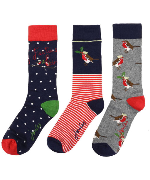 Women's Joules Cracking Socks Gift Set - Robin