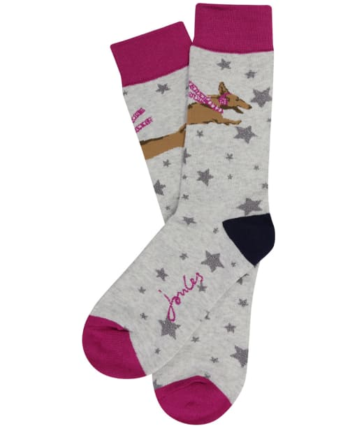Women's Joules Brilliant Bamboo Christmas Socks - Hound