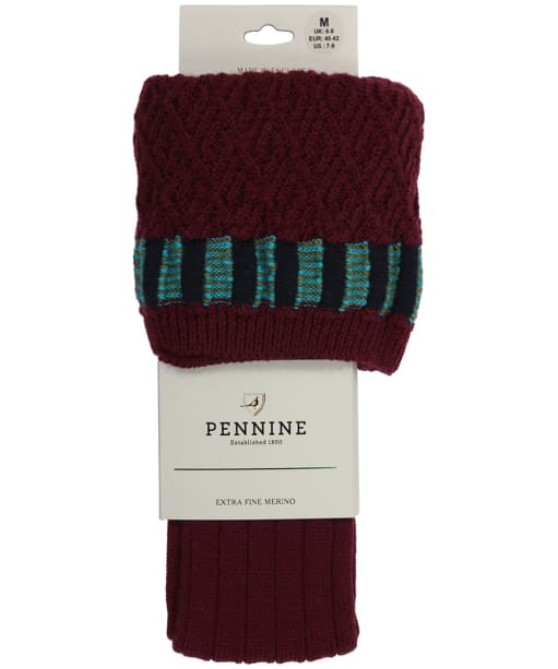 Men's Pennine Bristol Shooting Socks - Burgundy