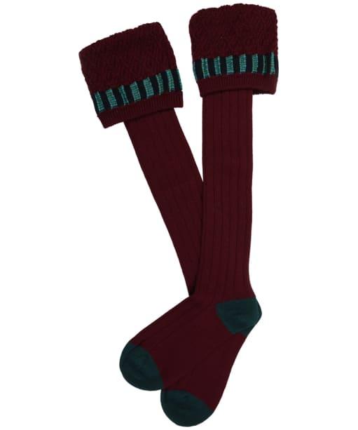Men's Pennine Bristol Shooting Socks - Burgundy