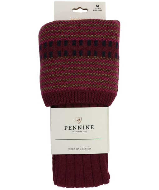 Men's Pennine Cumbrian Shooting Socks - Burgundy