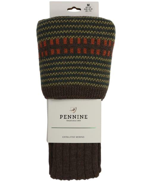 Men's Pennine Cumbrian Shooting Socks - Mocha