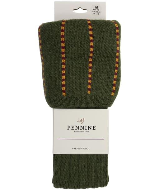 Men's Pennine Devonshire Shooting Socks - Olive