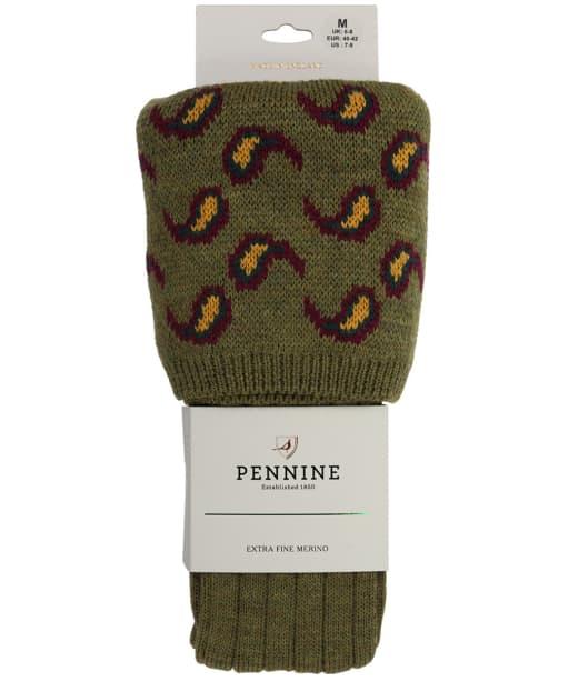 Men's Pennine Norfolk Shooting Socks - Old Sage