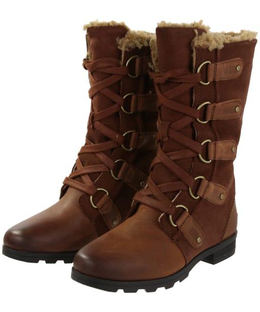 Women's Sorel Emelie Lace Waterproof Boots - Burro