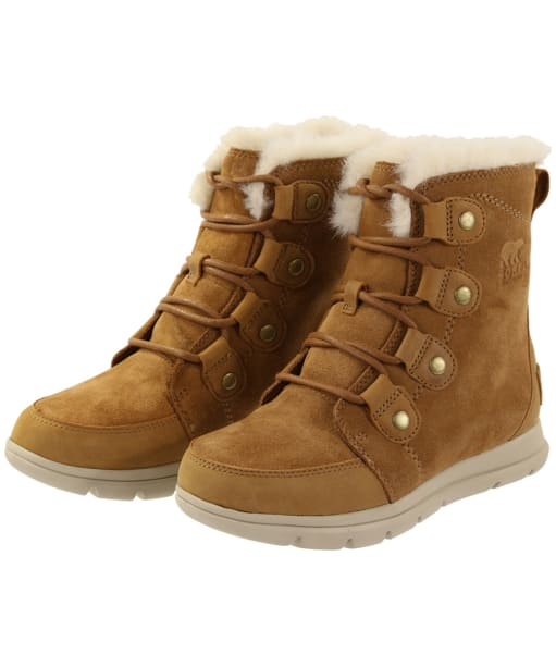 Women's Sorel Explorer Joan Waterproof Boots - Camel Brown