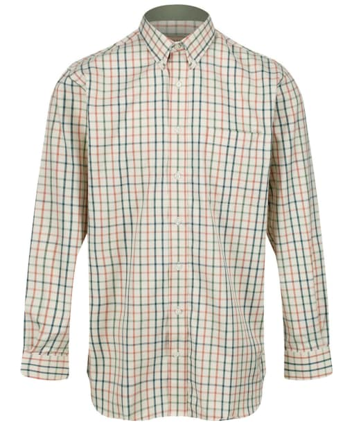 Men's Schoffel Brancaster Shirt - Dark Olive / Brick