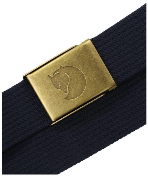 Men's Fjallraven Canvas Brass Belt 4cm - Dark Navy