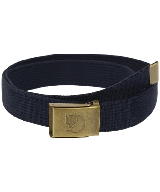 Men's Fjallraven Canvas Brass Belt 4cm - Dark Navy