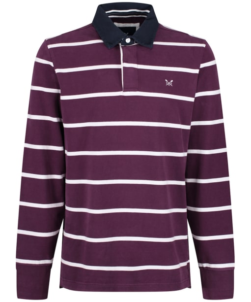Men's Crew Clothing Rugby Shirt - Washed Plum / White