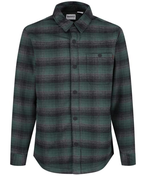 Men's Timberland Mascoma River Sherpa Lined Plaid Overshirt - Darkest Spruce