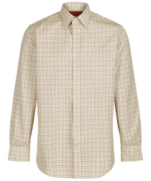 Men's Schoffel Tattersall Shirt - Red / Green Check