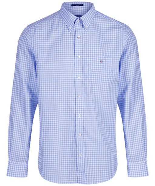 Men's GANT The Regular Broadcloth Gingham Shirt - Capri Blue