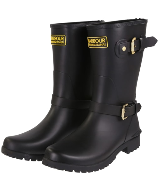 Women's Barbour International Monza Wellington Boots - Black