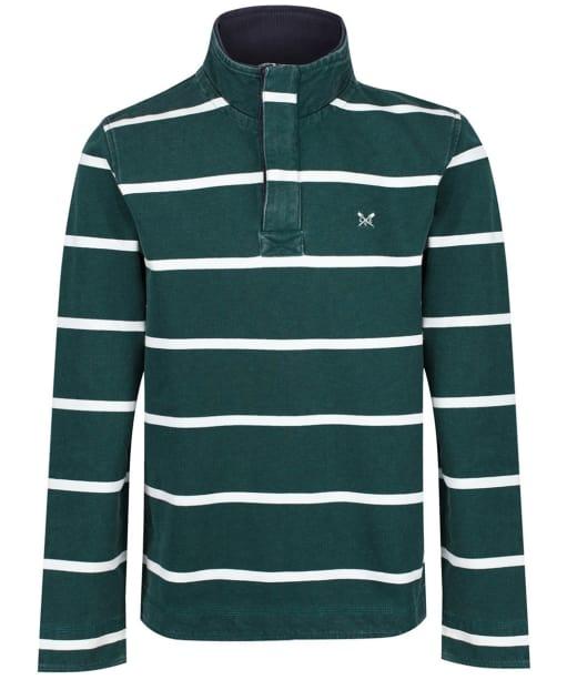 Men's Crew Clothing Padstow Pique Sweatshirt - Green / White