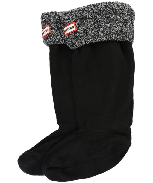 Hunter Original Six-Stitch Cable Boot Socks - Black / Grey