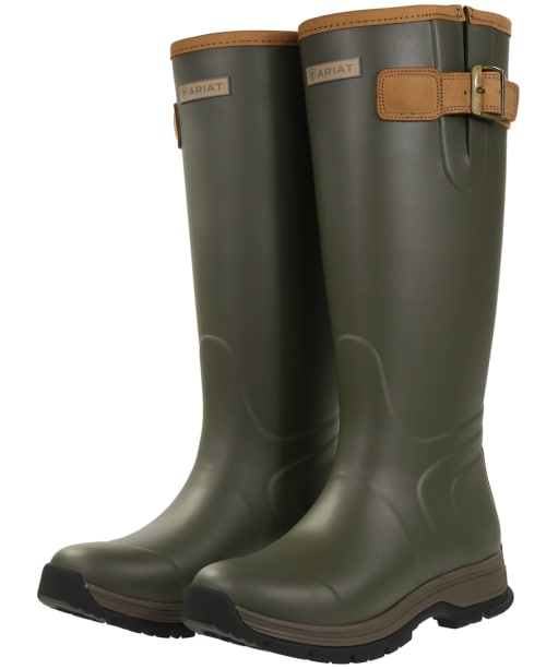 Women's Ariat Burford Insulated Wellington Boots - Olive