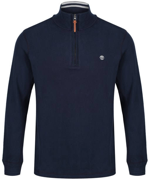 Men's Timberland Canoe River Half Zip Sweatshirt - Dark Navy