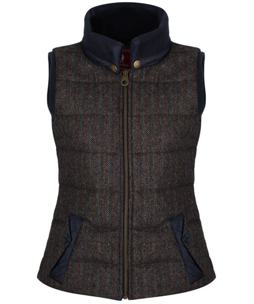 Women's Jack Murphy Malory Tweed Gilet - Outdoor Teal Herringbone