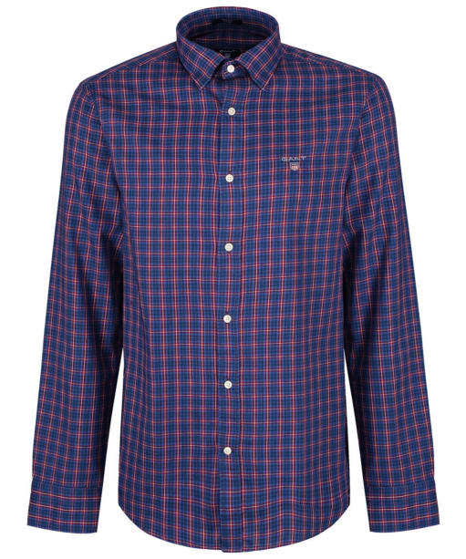 Men's GANT Regular Indigo Twill Check Shirt - Winter Wine