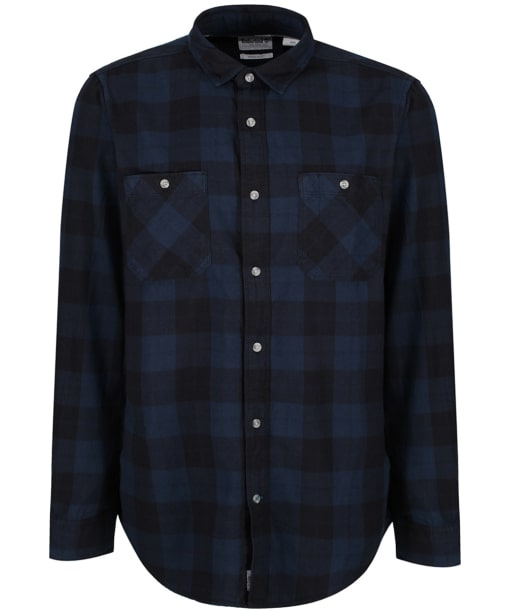 Men's Timberland Back River Buffalo Check Flannel Shirt - Dark Navy