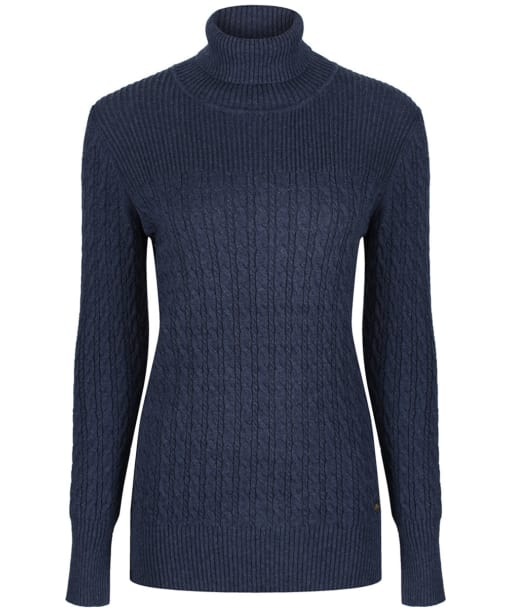 Women's Dubarry Boylan Polo Neck Sweater - French Navy