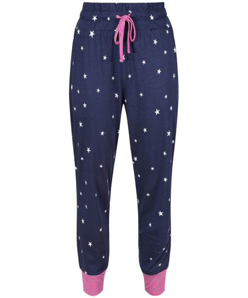 Women's Joules Jocelyn Jersey Pyjama Bottoms - French Navy Star