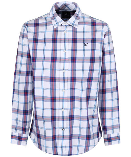 Men's Crew Clothing Bamburgh Classic Check Shirt - Ultramarine / Red