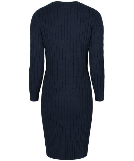 Women's GANT Stretch Cotton Cable Dress - Evening Blue