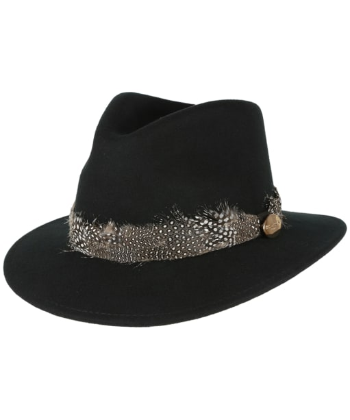 Women's Hicks & Brown The Suffolk Fedora Guinea Hat - Black