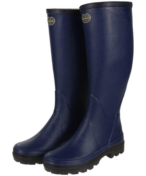 Women's Le Chameau Giverny Wellington Boots - Marine