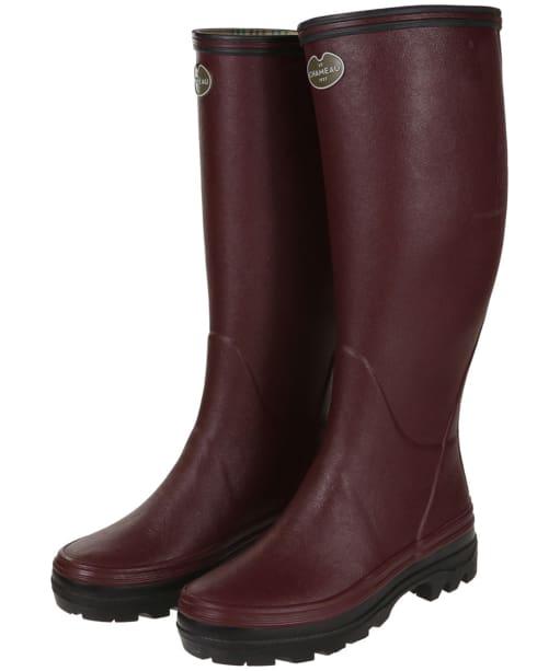 Women's Le Chameau Giverny Wellington Boots - Cherry